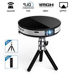ExquizOn DLP Mini Projector, High Brightness Pico Video Proj