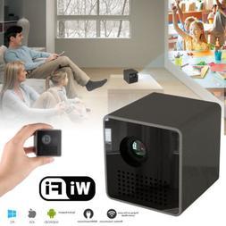 DLP Projector Mini Portable Multimedia 1080P WIFI TF USB for