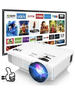 DR.J Professional HI-04 1080P Supported 4Inch Mini Projector
