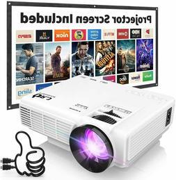 DR. J Professional HI-04 4500L Mini Projector Outdoor Movie