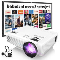 """DR. J Professional HI-04 4Inch Mini Video Projector 170"""" Dis"""