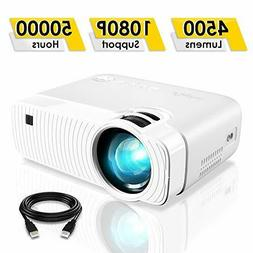 ELEPHAS Projector, GC333 Portable Projector with 4500 Lumens