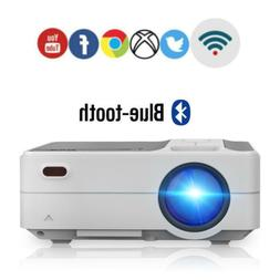 EUG FHD Mini Smart WiFi Projector Bluetooth Android 6.0 for