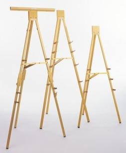 Folding Flipchart Easel Finish: Gold Anodized