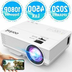 JINHOO Full HD 1080P 4500 Lumen Portable Mini Home Theater M