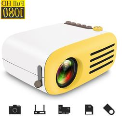 Full HD 1080P Mini Projector LED Multimedia Home Theater USB