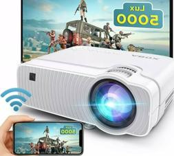 Wireless WiFi Projector 5000L Airplay Portable Mini Home Mov