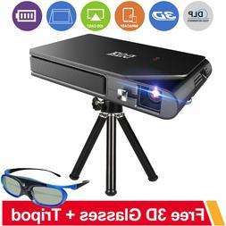 EUG 3600LMS Mini 3D WiFi Projector HD DLP Screen Mirroring F