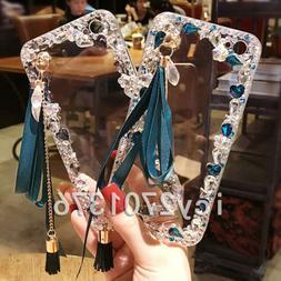 Glitter Crystal Bling Rhinestone Diamonds tassel pendant Sof
