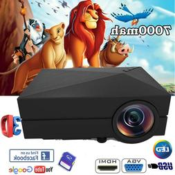 GM60 Portable MINI 5000 Lumen LCD Projector 1080P HD Video f