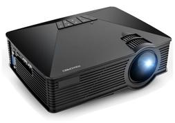 DBPOWER GP15 LED Mini Projector with 20,000-hour Life,  Home