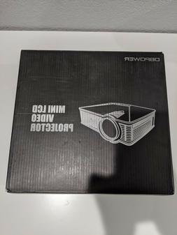 DBPOWER GP15 Portable LCD Mini Video Projector 1080P - Black