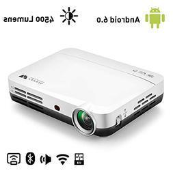 WOWOTO H10 Video Projector Smart Android 6.0 2GB RAM/8GB ROM