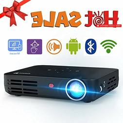 WOWOTO H8 3500 Lumens Mini Projector LED DLP 1280x800 Real M