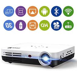 WOWOTO H8 3500 lumens Mini Projector White LED DLP 1280x800