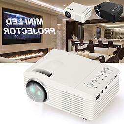 Haihuic Mini Portable video Projector, Multimedia Home Theat