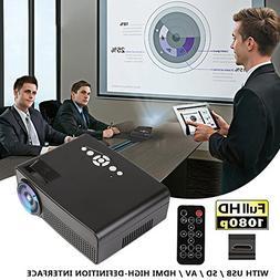 Hanbaili 3000 Lumens LCD Mini Projector, Multimedia Home The