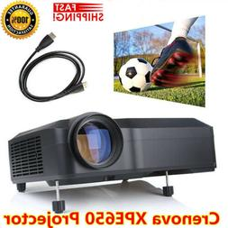 Crenova HD 1080P Full LCD Mini Home Theater Projector HDMI V