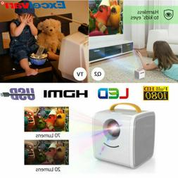 HD 1080P Mini LED Projector Multimedia Home Theater TF AV US