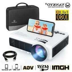 VANKYO HD 1080P Support Wifi Mini LCD Projector Home Movie T