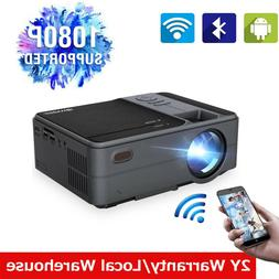 Portable HD Android 6.0 Projector LED Mini Smart Home Theate