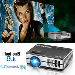 EUG 3000lumen Mini Smart Projector Android 7.1 Home Theater