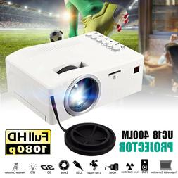 1080P HD Mini Portable LED Projector 3D Home Theater Cinema