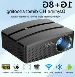 HD LCD Mini Home Theater Projector Android Wifi Bluetooth On