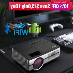 2800lm Mini LED Smart Projector Android WiFi Bluetooth Home