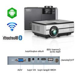 Android Wifi Video Mini Portable HD LCD Projector Bluetooth