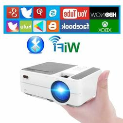 1280*800 HD Wifi Mini Bluetooth Projector Portable Android 6