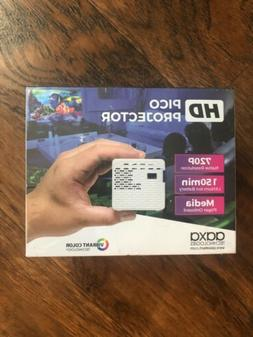 HD Pico LED Projector Rechargeable Battery Native Resolution