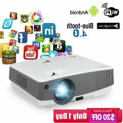 EUG HD Portable Android Smart Projector 4000lm Bluetooth Wif