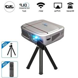 HD Portable Mini 3D DLP Projector Home Theater Wifi  Mirascr