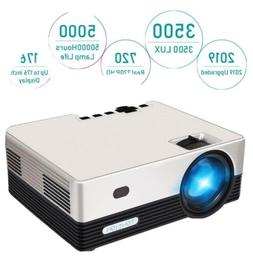 HD Projector, Tontion 3500 Lux Video Projector Native 720P M