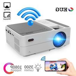 HD LED Wireless Mini Projector 1080p MirrorScreen Smart WiFi