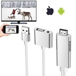 HDMI Cable Adapter, Elegant Choise HD Mirroring Cable Smart