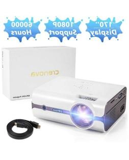 Crenova HDMI Mini Protable Projector 2200 Lumens USB DVD PC