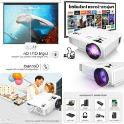 """HI 04 1080P Supported 4Inch Mini Projector W 170"""" Display 40"""
