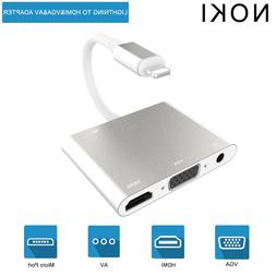 High Quality HDTV OTG Adapter For Lightning to VGA HDMI AV A