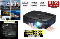 Projector,2018 Upgraded  Video Projector 1080P Supported, 30