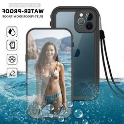 For iPhone 12/Pro Max/Mini Waterproof Case Cover With Built-