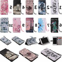 For Iphone LG Moto Sony Phone Strap Wallet Card Holder Leath