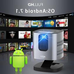 AOFU Jb-200 Smart Mini Projector Android&iOS 7.1 4K WiFi Mul