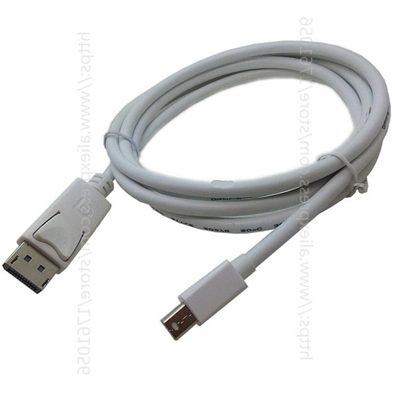1.8m DP Cable, Male Compatible MacBook, <font><b>Lenovo</b></font>, Dell 6FT