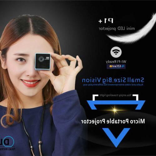 1080P FHD P1+ DLP Wifi Mini Projector USB/TF&