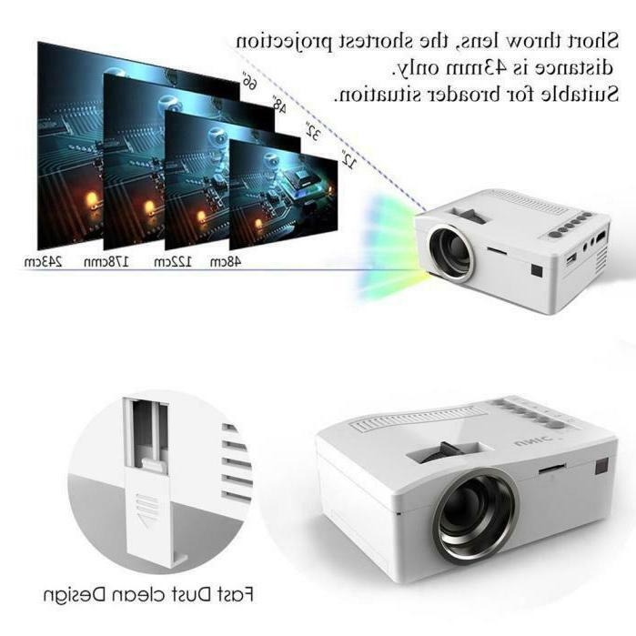 1080P LED Home MulitMedia TV SD HDMI Mini Projector