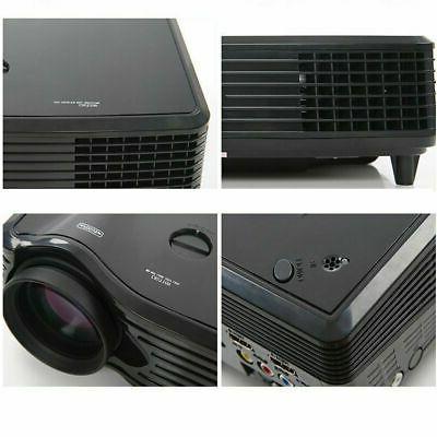 5000LMs Projector LED Theater Cinema USB VGA