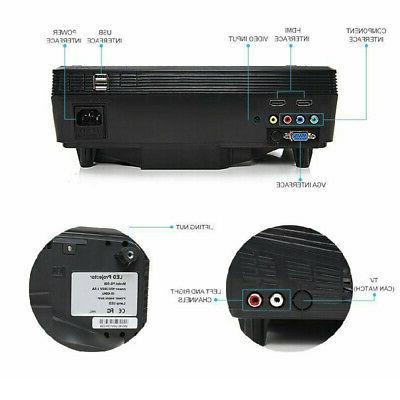 5000LMs HD 3D Projector LED Multimedia Theater VGA