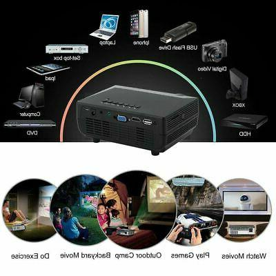 1080P Projector Theater Cinema AV VGA HDMI